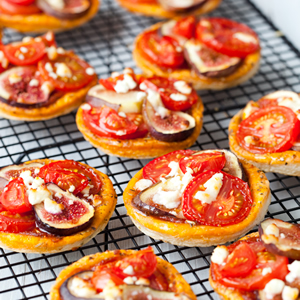 Tomato and Fig Tarts by Wilde Food